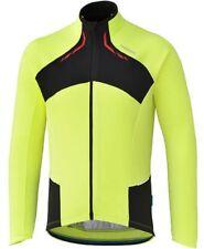 Shimano Men's Performance Thermal Winter Cycling Bike Jersey,fluro yellow, Large