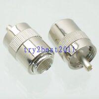 1pce Connector UHF PL259 plug pin solder RG8 RG213 LMR400 RG214 COAXIAL straight