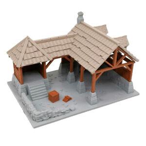 Outland Tactics War Games Miniatures Blacksmith Shop Brown & Grey 28mm Scale