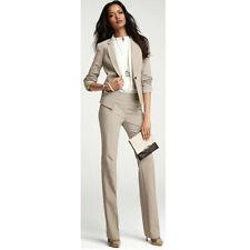 Light Brown Women Formal Wear Pantsuits Ladies Business Suit Female Trouser Suit