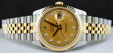 ROLEX 18kt GOLD & Stainless 36mm DateJust Champagne DIAMOND 116233 - SANT BLANC