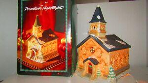 "Porcelain ""Church"" Electric Night Light house 1993 Dayton-Hudson Corporation"