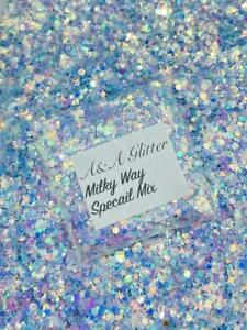 Nail Art Glitter (Milky Way) Chunky Cosmetic Glitter 5g Bag