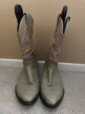 Zodiac Men Size 10M Cowboy Leather Boots, #N33