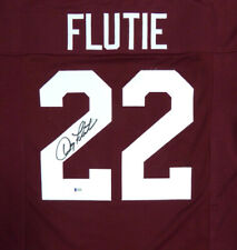BOSTON COLLEGE EAGLES DOUG FLUTIE AUTOGRAPHED SIGNED RED JERSEY BECKETT 119725
