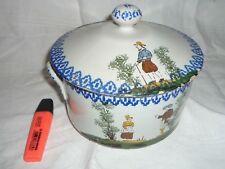 Pot couvert ancien soupière légumier Gentilhomme tureen sopera XIX Супница 盖碗