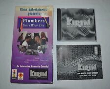 Plumbers Don't Wear Ties (3DO, 1994) CIB Video Game w/Longbox RARE - TESTED