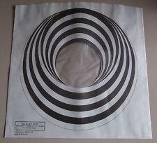 "4 X VERTIGO SWIRL / SPIRAL 12"" LP POLY-LINED INNER SLEEVES (NEW) FREE UK POSTAGE"