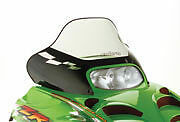 "WindShield for Arctic Cat Cobra Panther#19-0041 Med 14"" Smoke w Racing Stripe"