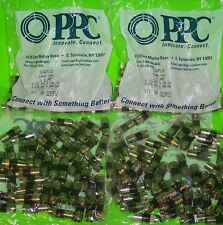 200 PPC EX6PLUS SIGNAL TIGHT RG6 COAX CABLE CONNECTORS - 4 BAGS OF 50 - NEW!