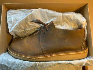 Clarks Originals Desert Trek Beeswax Leather + Box beams plus boot 6876 end