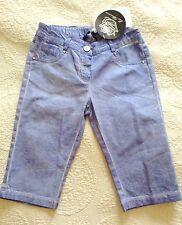 NWT! Authentic MISS BLUMARINE Blue Denim Cropped Capris Pants  -7 yrs, rrp $180