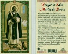 Prayer to Saint Martin de Porres Unbounded Helpful Charity Holy Cards HC9-025E