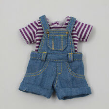 "Takara 12"" Blythe Doll outfits-The Blue Cowboy Suspenders And T-shirt"
