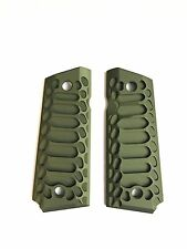 "1911 Compact Officer Grips  ""Cobra"" pattern in Limited Edition Olive Green!"