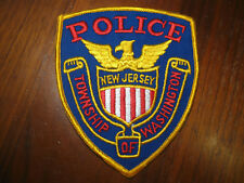 WASHINGTON TWP NEW JERSEY POLICE PATCH .