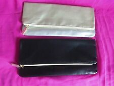 Jafra Set Of 2  Royal Jelly Anniversary Clutch 1 Black & 1 Silver/Gold