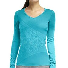 NEW Icebreaker Bodyfit 200 Oasis Sherpinsky Triangle Top - UPF 30+, - W's M Wool