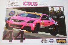 2017 Sarah Cattaneo signed Crg Nissan Altima St Imsa Ctsc postcard