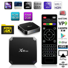 Quad Core X96MINI 2G 16G Android 7.1 TV BOX Internet Streamer 4K Movie HDR Video