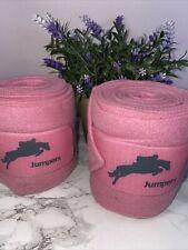 Horse Fleece Bandages Pink Jumpers Horseline Travel Exercise Stable Bandage