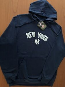 NWT Stitches Athletic Wear New York Yankees Pullover Fleece Hoodie Blue Size XL