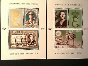 Belgium SC #B789 & B790 1966 Royalty Souvenir Sheets. Set Of 2 MNH