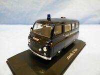 ATLAS 1:43 Black Austin J2 Patrol Van Metropolitan Police Diorama Diecast Toy