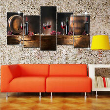 Red Wine Wine Bottle Glass Wall Hanging Print Poster Picture Canvas Home Decor