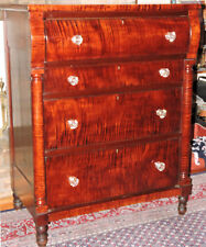 Chest Four Drawers Tiger Maple Great Figure Sheraton 38w 49t