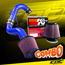For 11-16 Scion tC 2.5L 4cyl Blue Cold Air Intake + K&N Air Filter