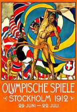 Art ad preolímpicos Spiele Estocolmo 1912 Deco cartel impresión