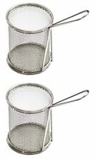 2 PC Stainless Steel Mini Chips Fries Seafood Snacks Serving Bucket Basket