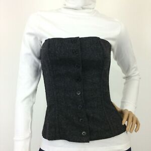 Laltramoda grey wool blend outer fashion corset Italy size 42