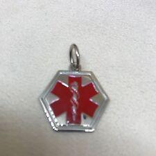 Sterling Silver Medic ID Alert Pendant