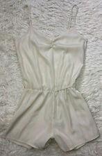 d014ac7cef37 American Apparel Romper S Shorts Set Cream Ivory Silky Cami Style