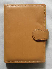 Leather File Organiser NEW GREENWICH  MUSTARD POCKET SIZE WALLET 15mm Diameter