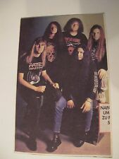vintage soviet postcard NAPALM DEATH - dissection obituary vader cannibal corpse