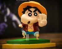 Crayon Shin-chan cos luffy PVC figure figures doll action toy fashion gift