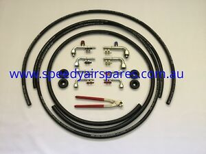 Vehicle Air Conditioning Hose & Fitting Kit includes Crimper Make your own hoses