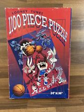 """Vintage Looney Tunes 1100 Piece Puzzle 1995 All Star Playoff 24""""x36"""""""