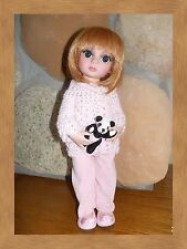 """Porcelain pink cords for 10"""" Tonner Patsy handmade by Pink Heart Toggery"""