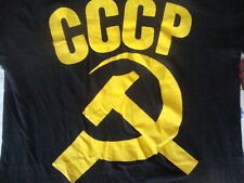 Vintage CCCP Communist Russia Soviet Union Rare Black punk rock T Shirt M