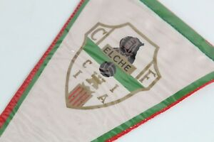 Vintage Football Pennant 1970's - Elche CF - Spain Flag