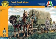 Italeri 1:32 54mm Napoleonic Wars French Supply Wagon Figure Model Kit #6886