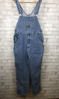 Vintage OshKosh Vestbak Denim Overalls Bib Jean Retro Work Men Sz Large Long