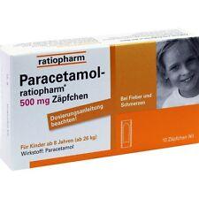 PARACETAMOL ratiopharm 500 mg Supositorio 10 st PZN3953605