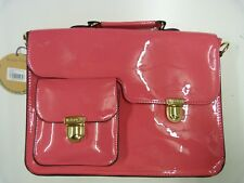 RED OR DEAD COLLEGE SATCHEL BACKPACK BAG PINK PATENT SCHOOL WORK SOLD OUT ONLINE