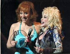 DOLLY PARTON AND REBA MCENTIRE SEXY PHOTO HAND SIGNED W COA - COUNTRY SINGERS!