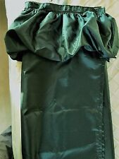 Ruffle Shower Curtain Kelly Green with 12 Green Shower Hooks  72x72  EUC